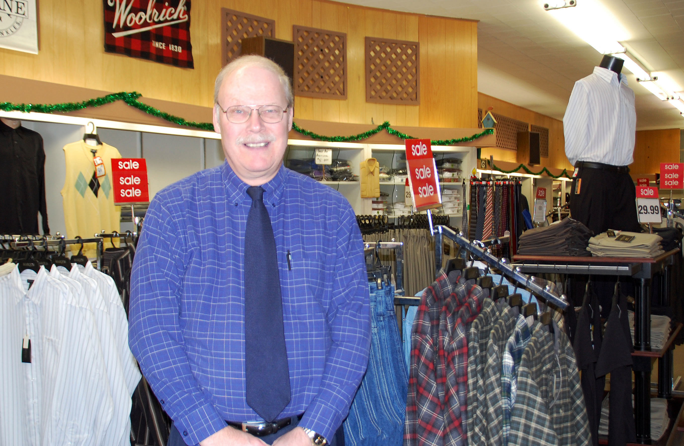 Sam's Clothing Store Owner, Larry A. Schwartz - Oelwein, Iowa